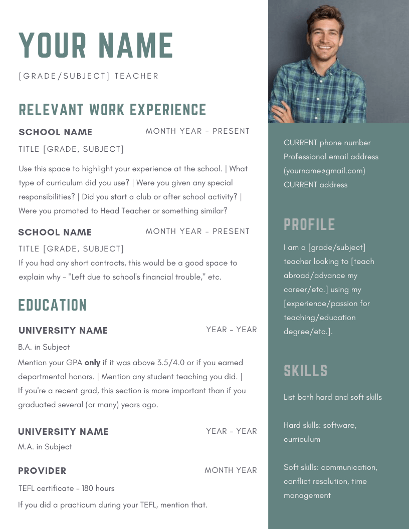 Creating A Resume For Teaching English Abroad Teaching Nomad