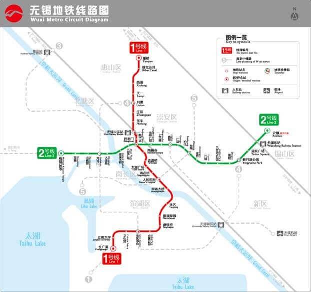 Wuxi Metro Map