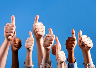 thumbs up friend family approval