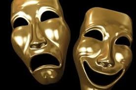 """Comedy and tragedy masks symbolizing the concept of """"face"""""""