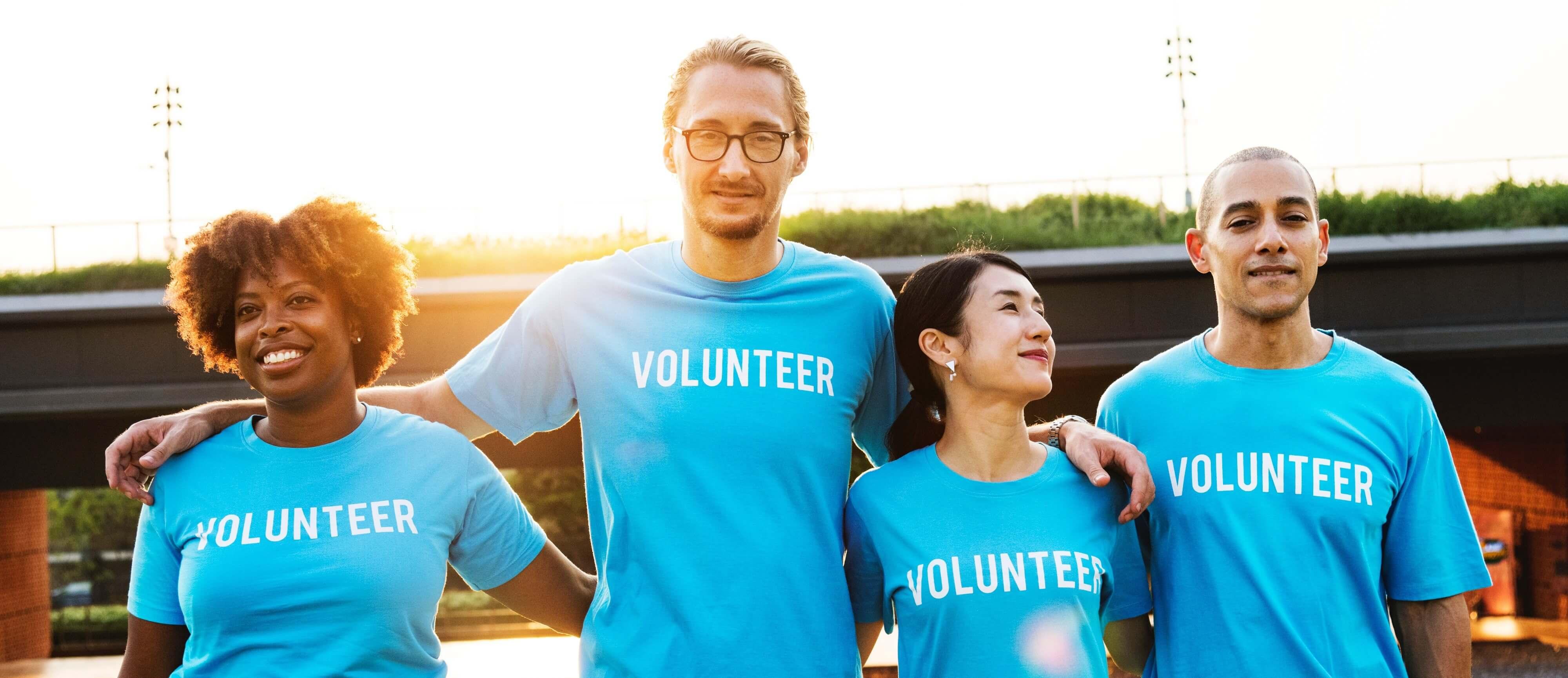 people volunteering at a school