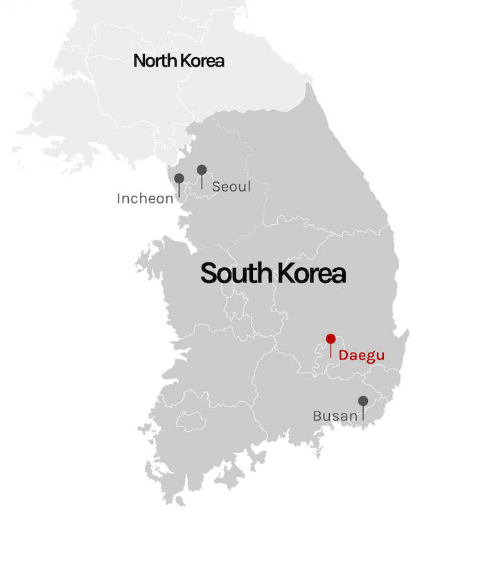 Seoul marked on south korea map