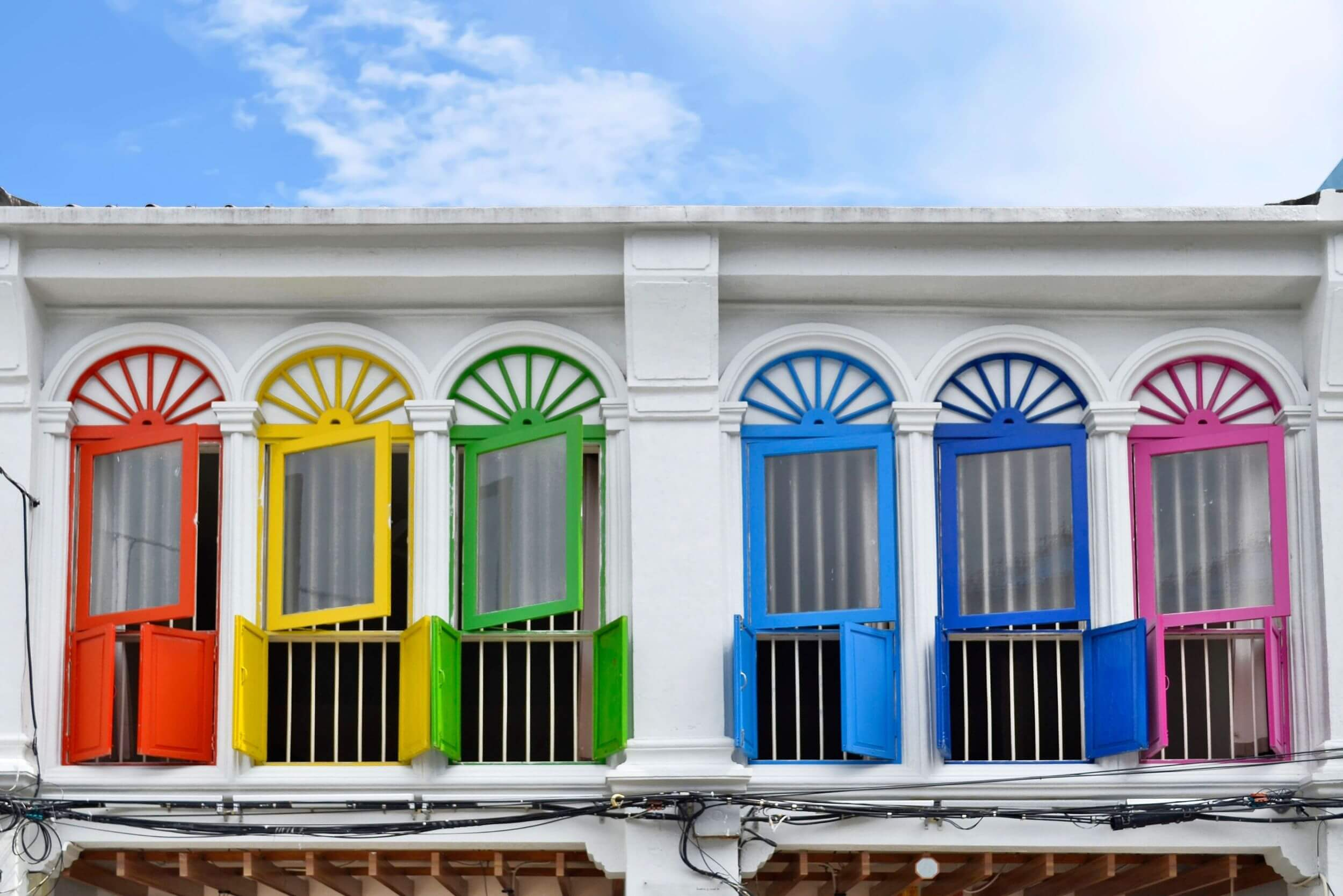 Colorful building in Phuket
