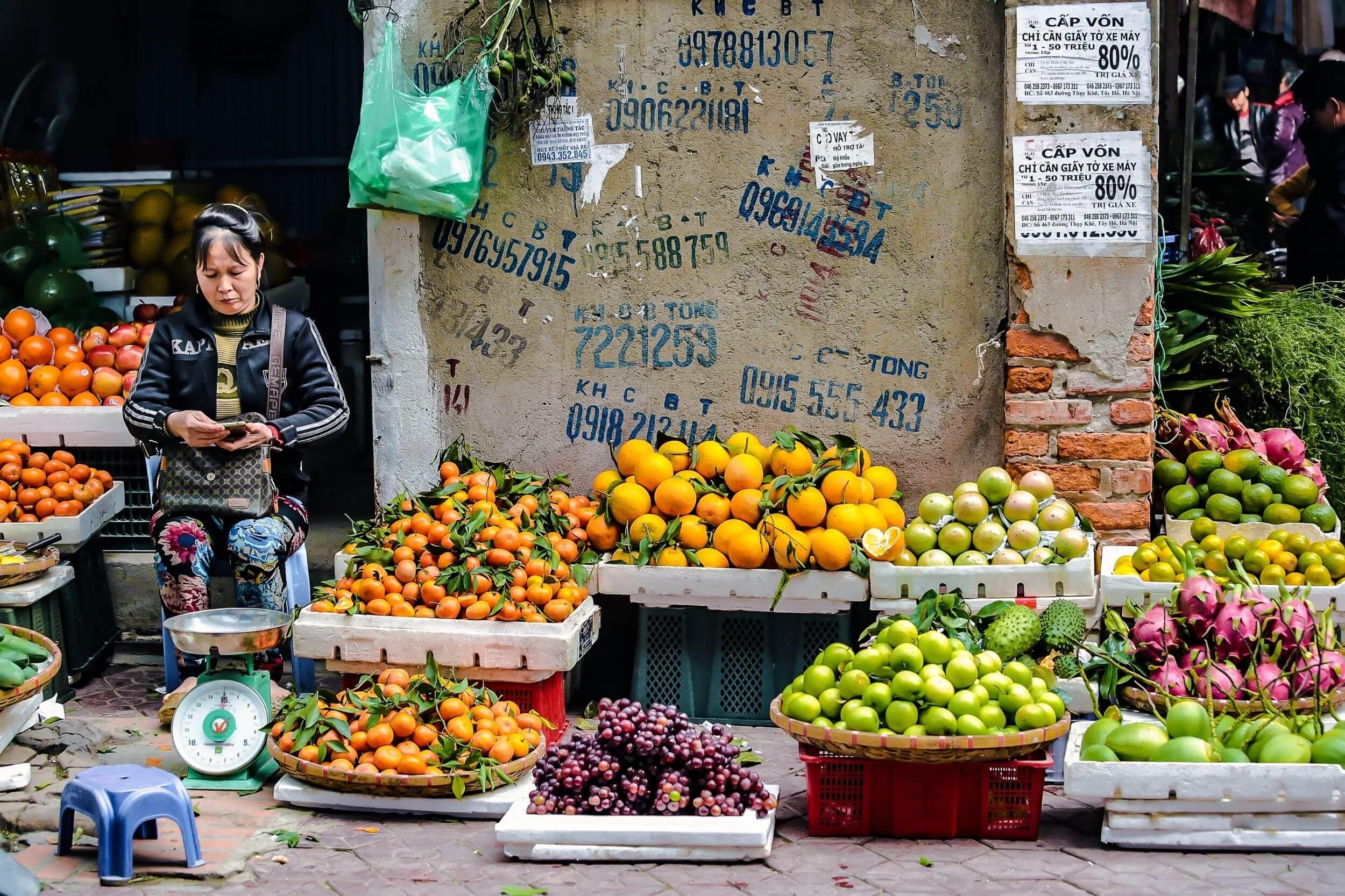 Food market in Hanoi