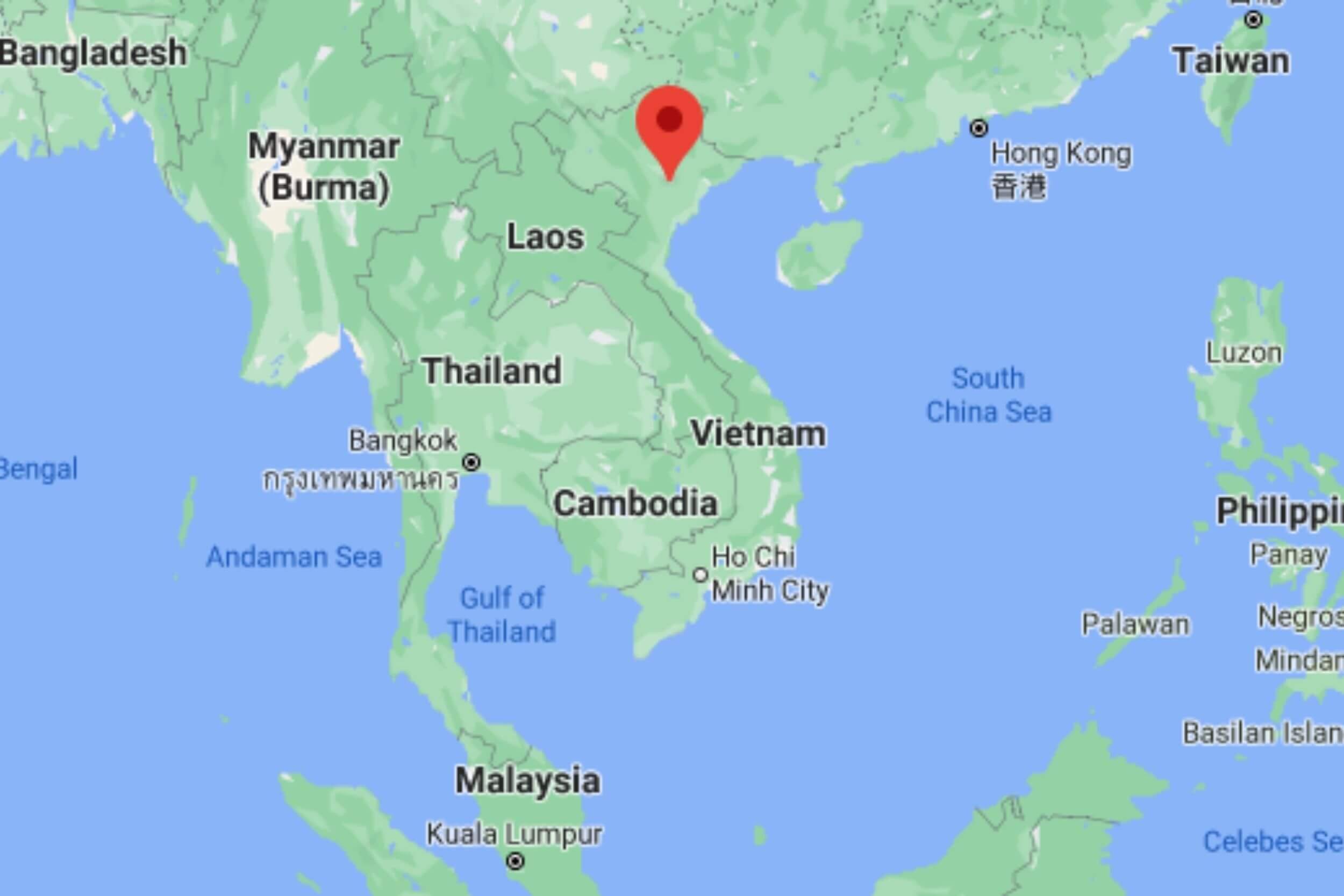 Hanoi, Vietnam on map