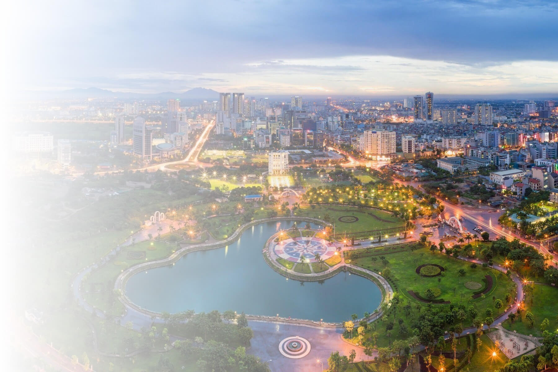 View of Hanoi skyline