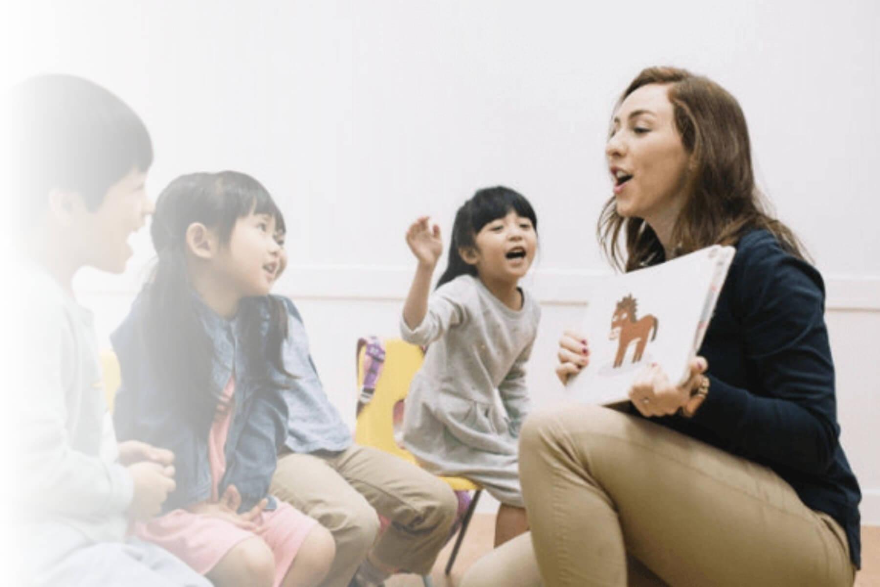 Woman teaching ESL