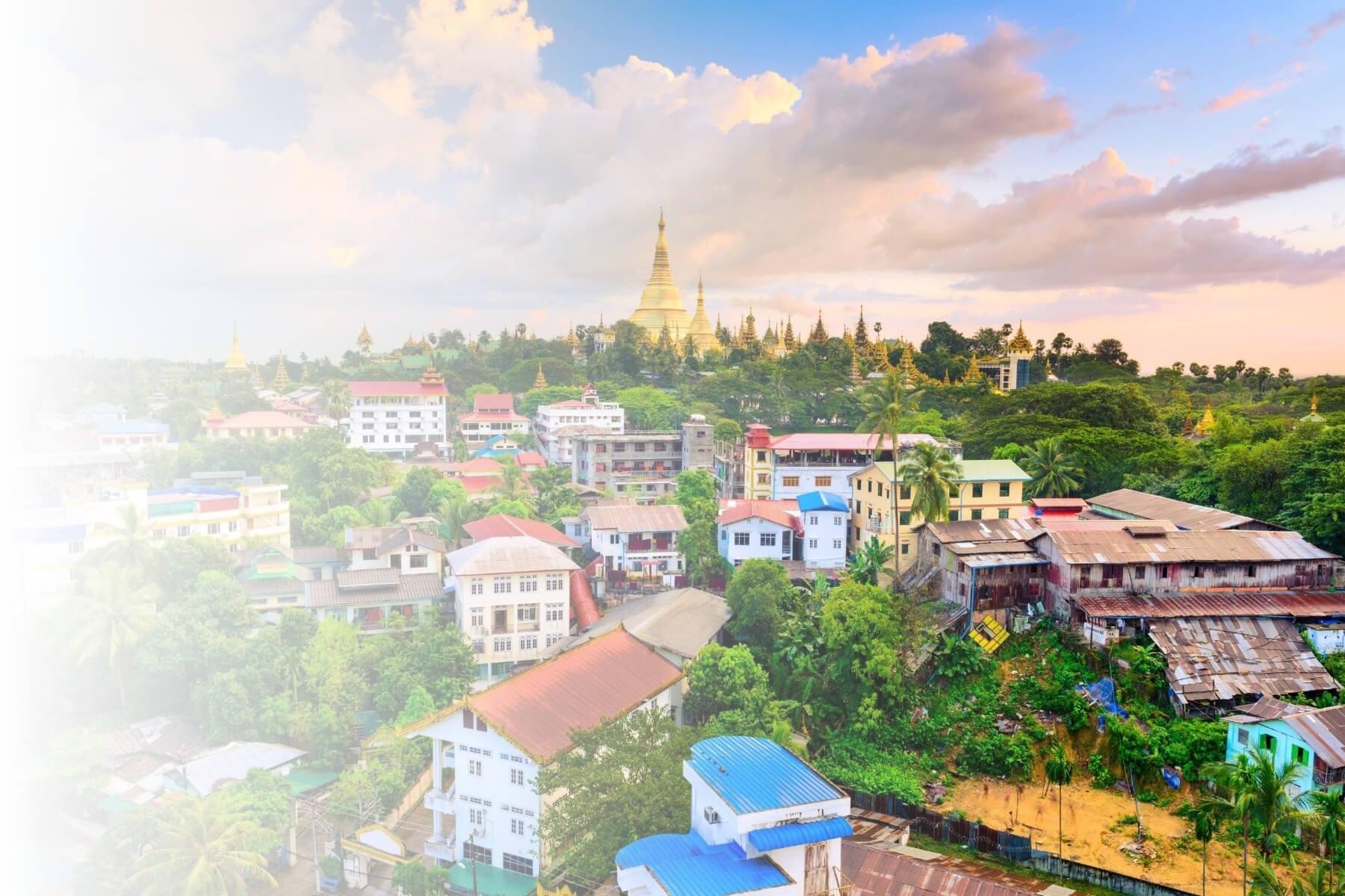 Yangon aeriel view