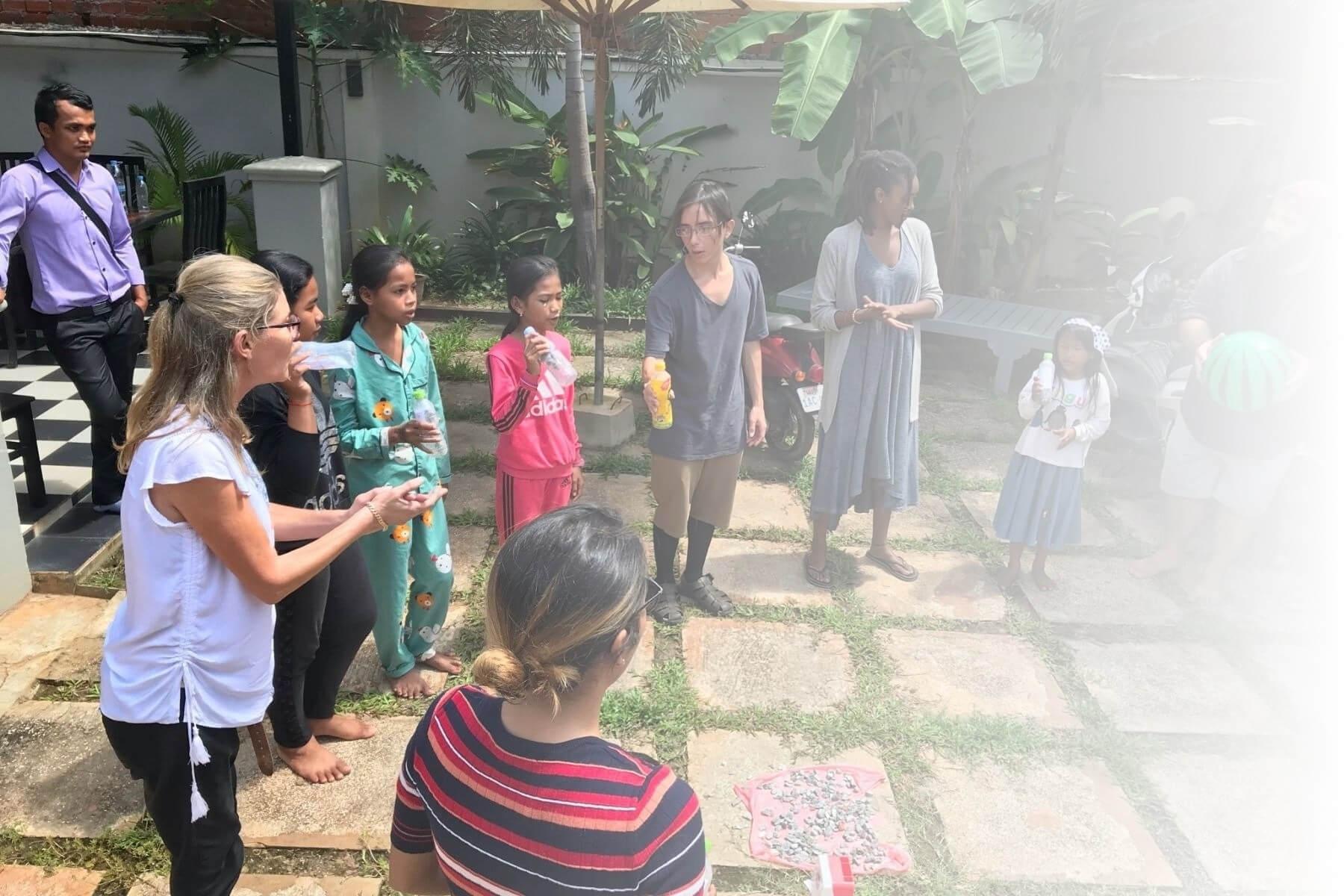 class outside in bali